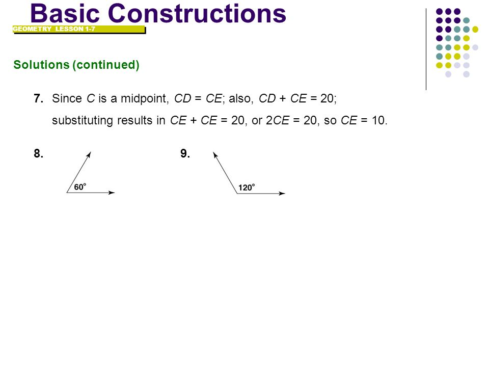 Basic Constructions Solutions (continued)