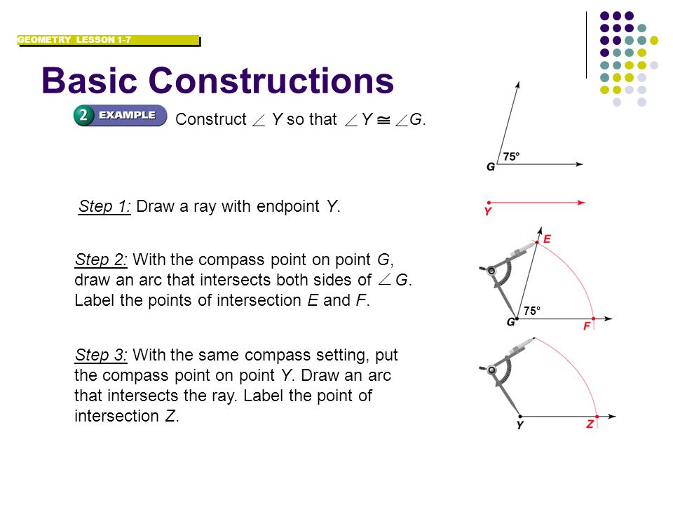 Basic Constructions Construct Y so that Y G.