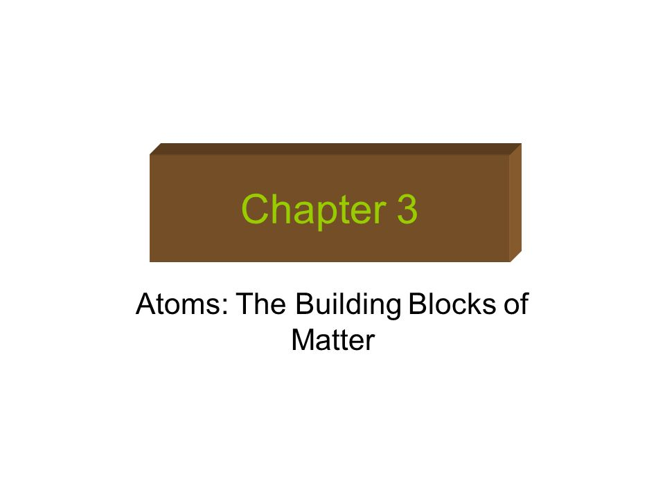 Atoms: The Building Blocks of Matter