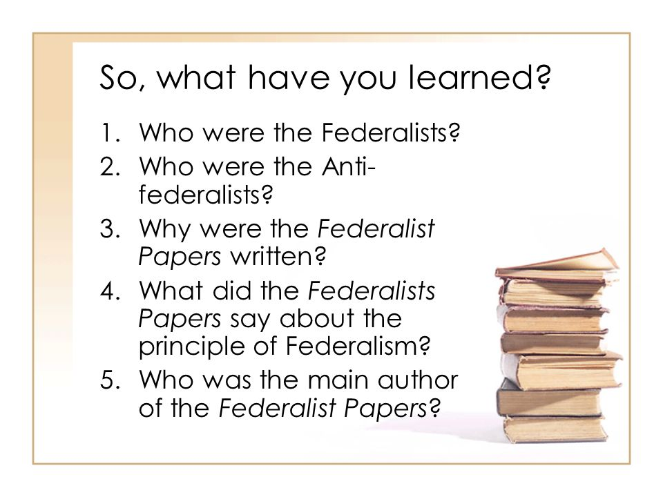So, what have you learned