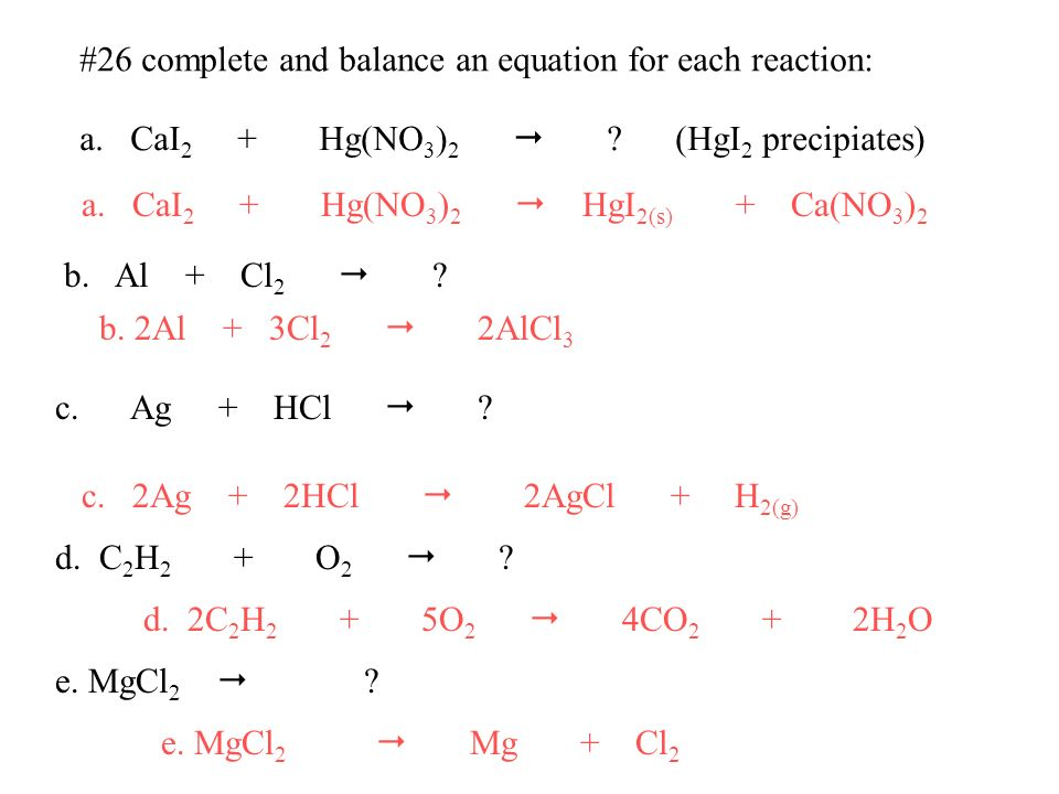 20 Write A Balanced Equation For The Complete Combustion