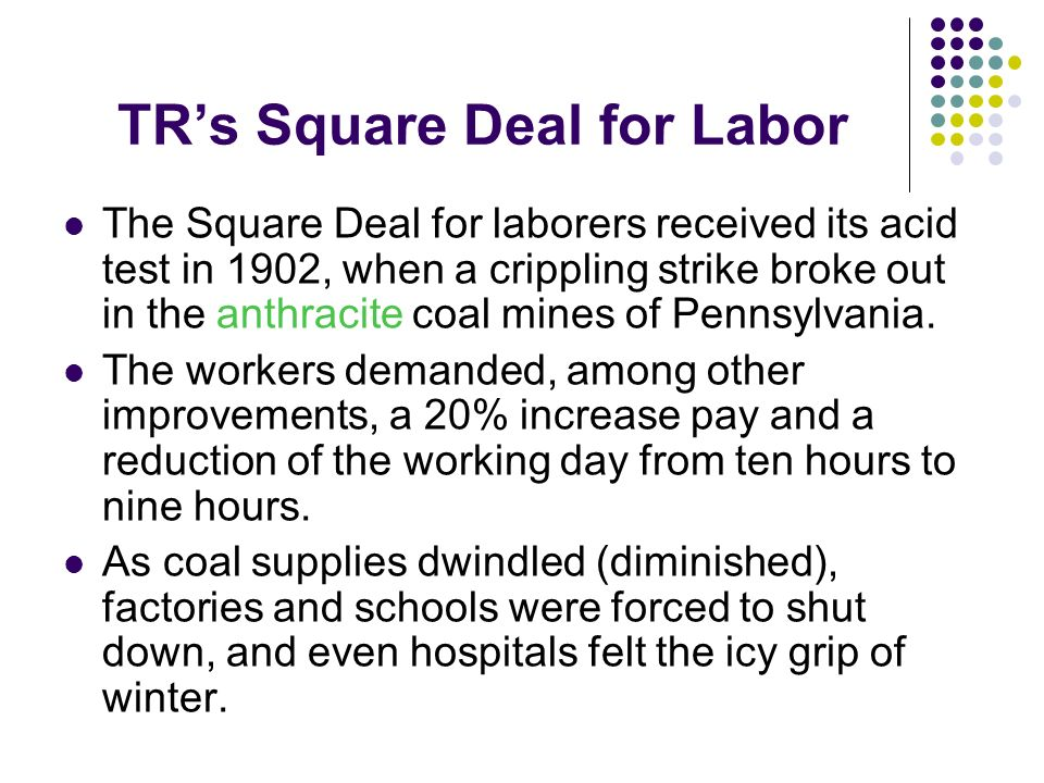 TR's Square Deal for Labor