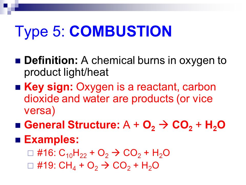 5 Types of Chemical Reactions - ppt video online download