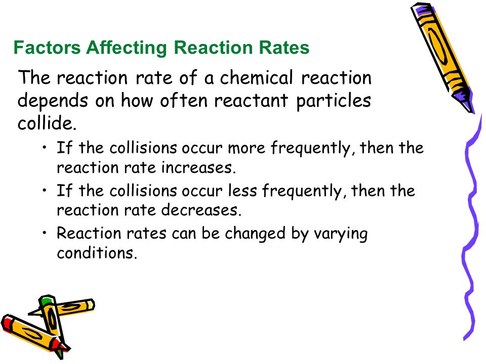 what points raise the particular rate connected with a new inorganic reaction
