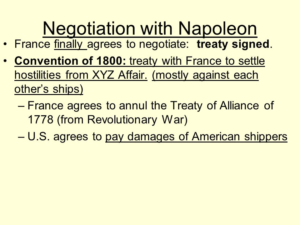Negotiation with Napoleon