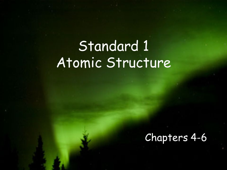 Standard 1 Atomic Structure
