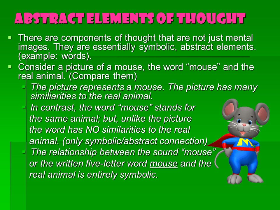 Abstract Elements of Thought