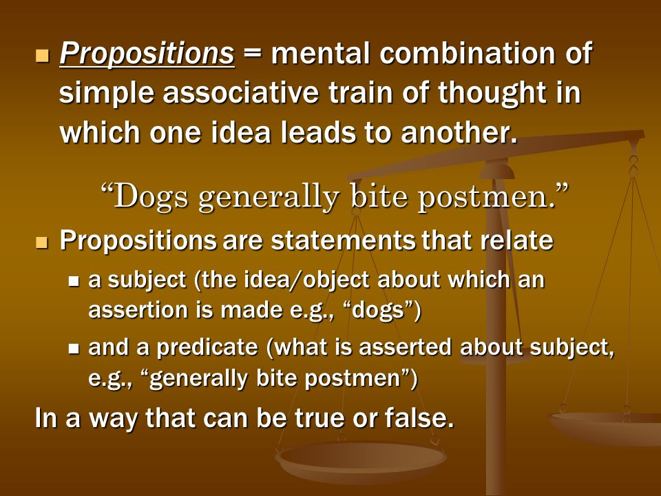 Dogs generally bite postmen.