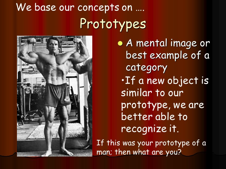 Prototypes We base our concepts on ….