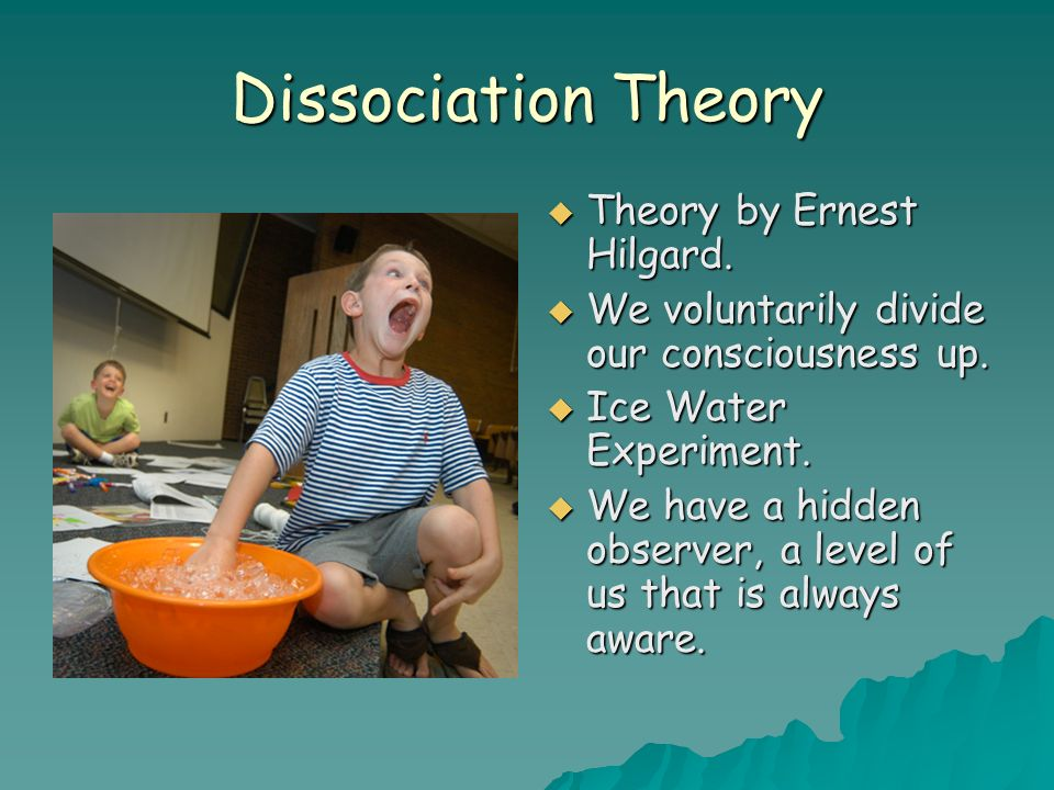 Dissociation Theory Theory by Ernest Hilgard.