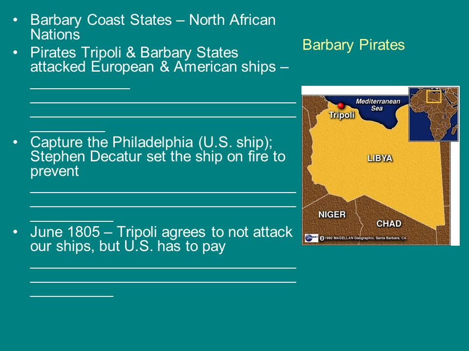 Barbary Coast States – North African Nations