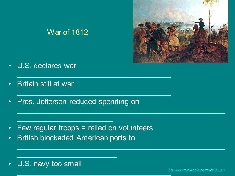 U.S. declares war _____________________________________