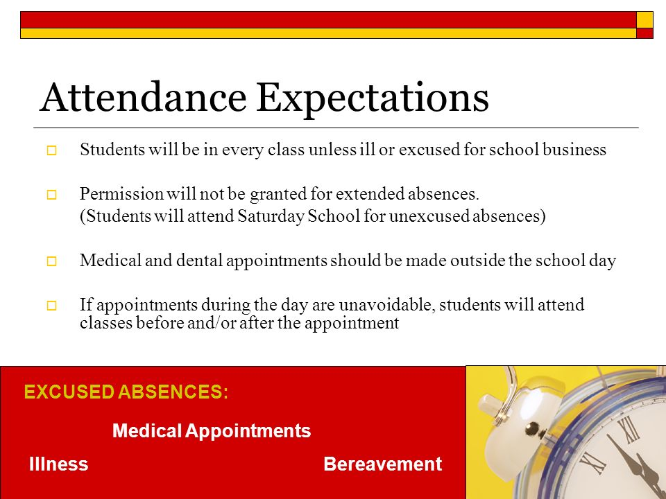 Attendance Expectations