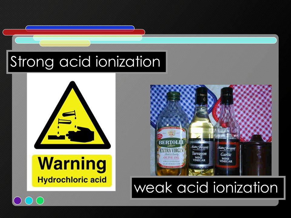 Strong acid ionization