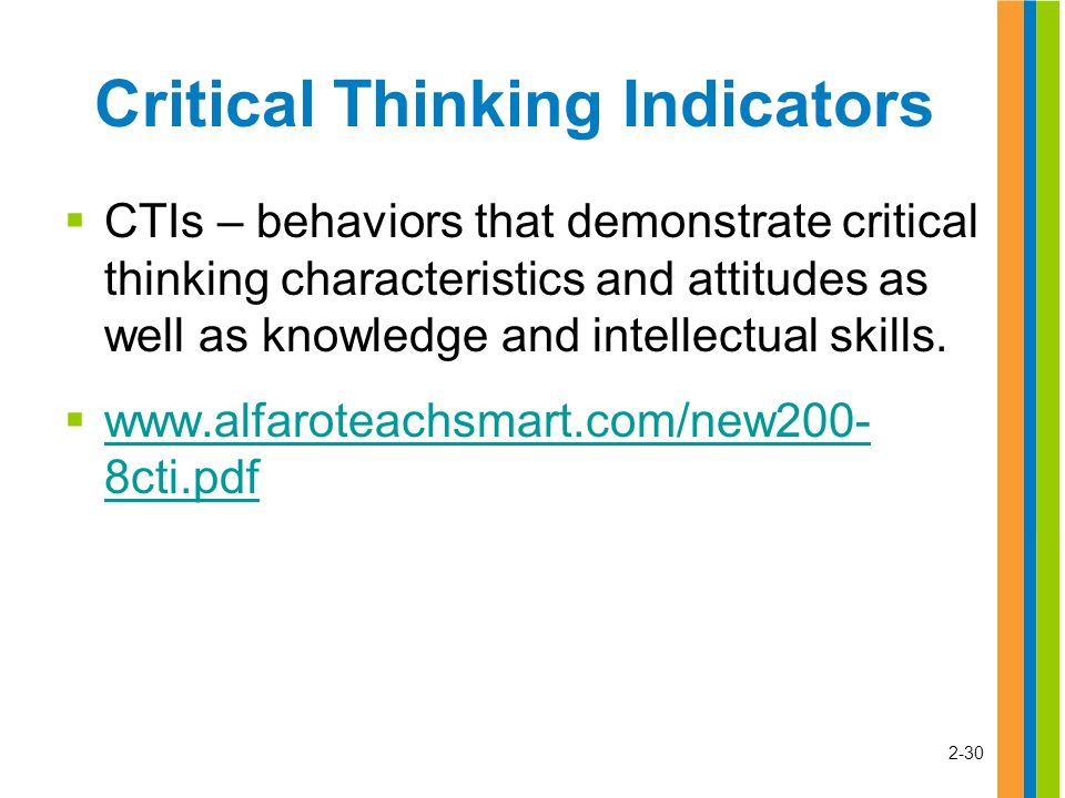Critical thinking characteristics training ppt