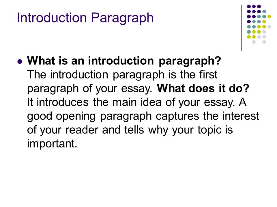 writing an expository essay ppt  introduction paragraph