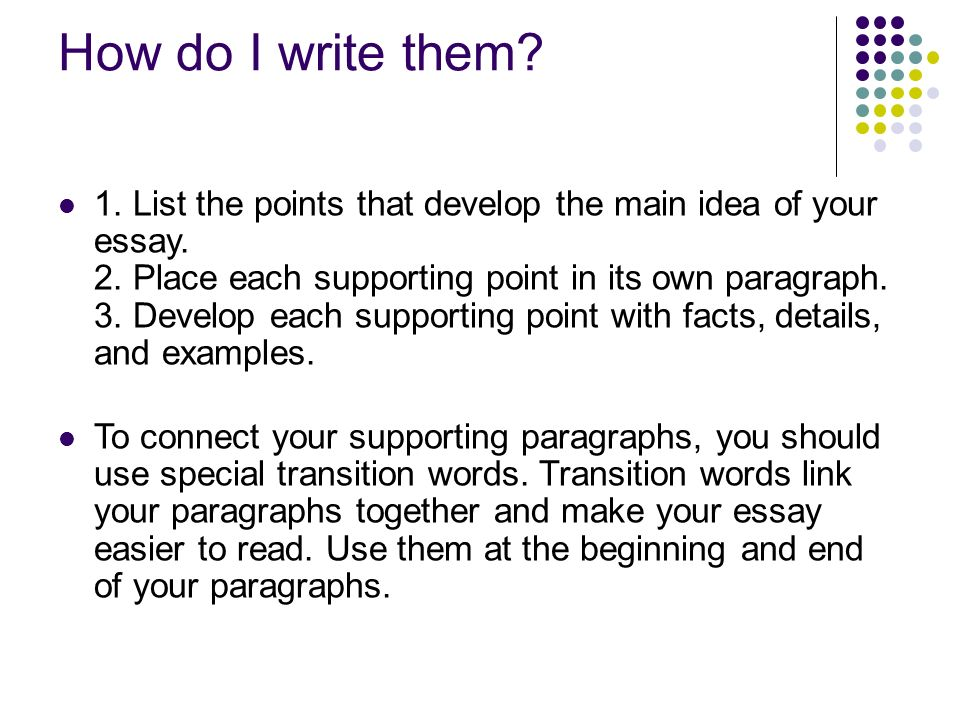 writing an expository essay ppt  7 how