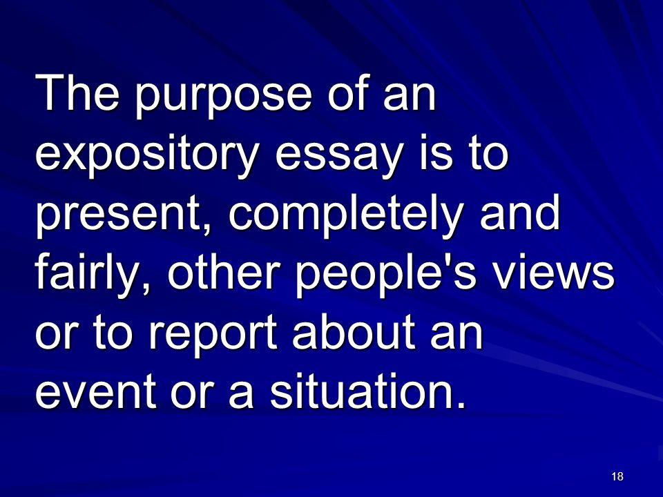 purpose of expository essays
