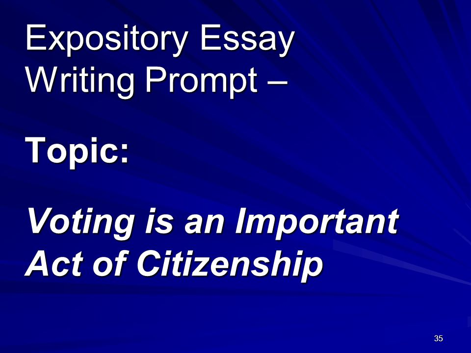 voting essay prompt These 25 essay prompts provide what are the dangers of gerrymandering when it comes to voting melissa 25 essay topics for american government classes.