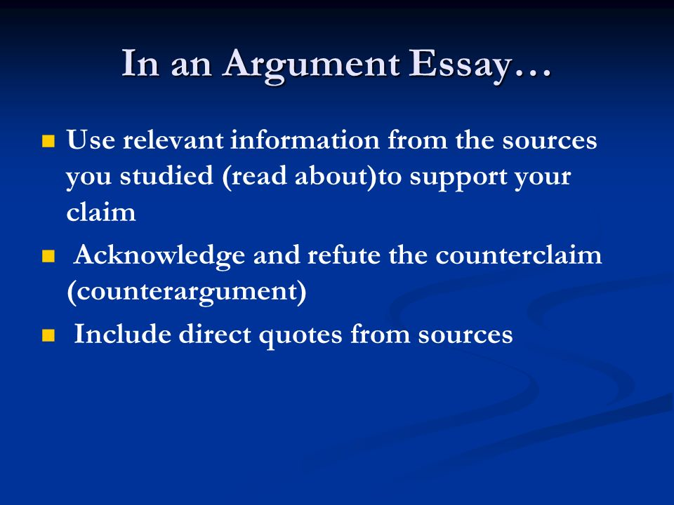 an argument in favor of reading Key teaching practices that support students' growth in writing social studies   read take a closer look at the common core standards for argument writing.