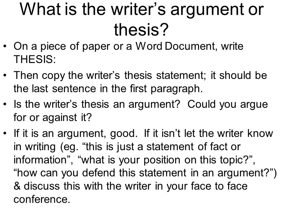 peer review of essays descriptive outlines describing what each  what is the writer s argument or thesis