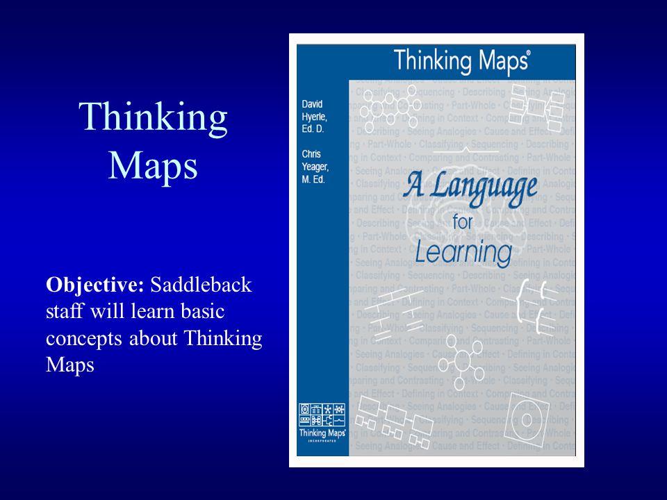 Thinking Maps Objective: Saddleback staff will learn basic