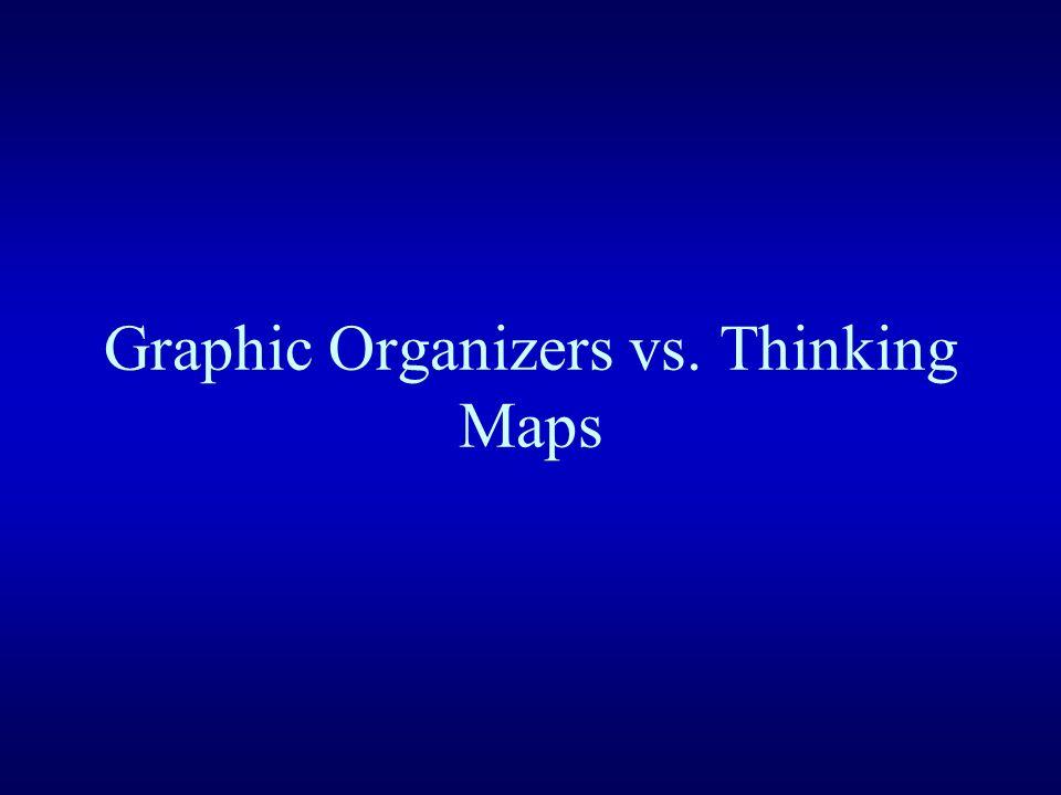 Graphic Organizers vs. Thinking Maps