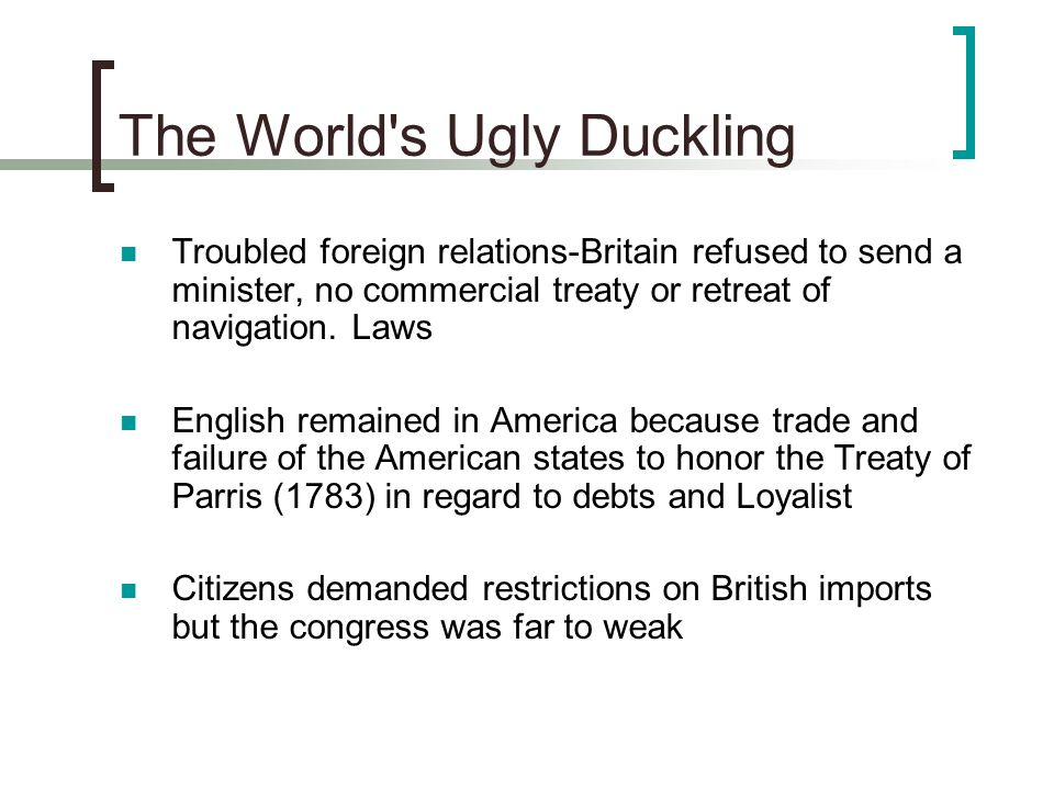 The World s Ugly Duckling