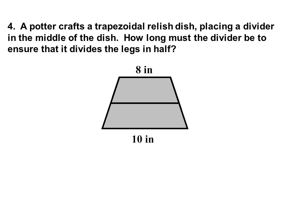 4. A potter crafts a trapezoidal relish dish, placing a divider in the middle of the dish.