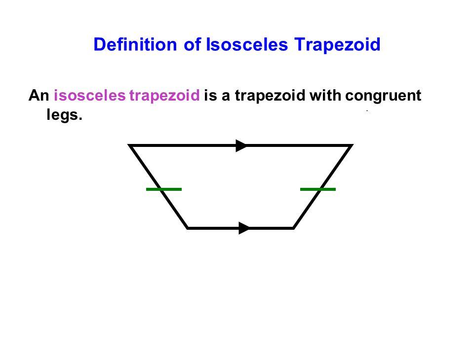 Definition of Isosceles Trapezoid