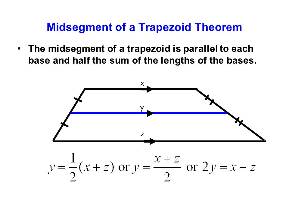 Midsegment of a Trapezoid Theorem