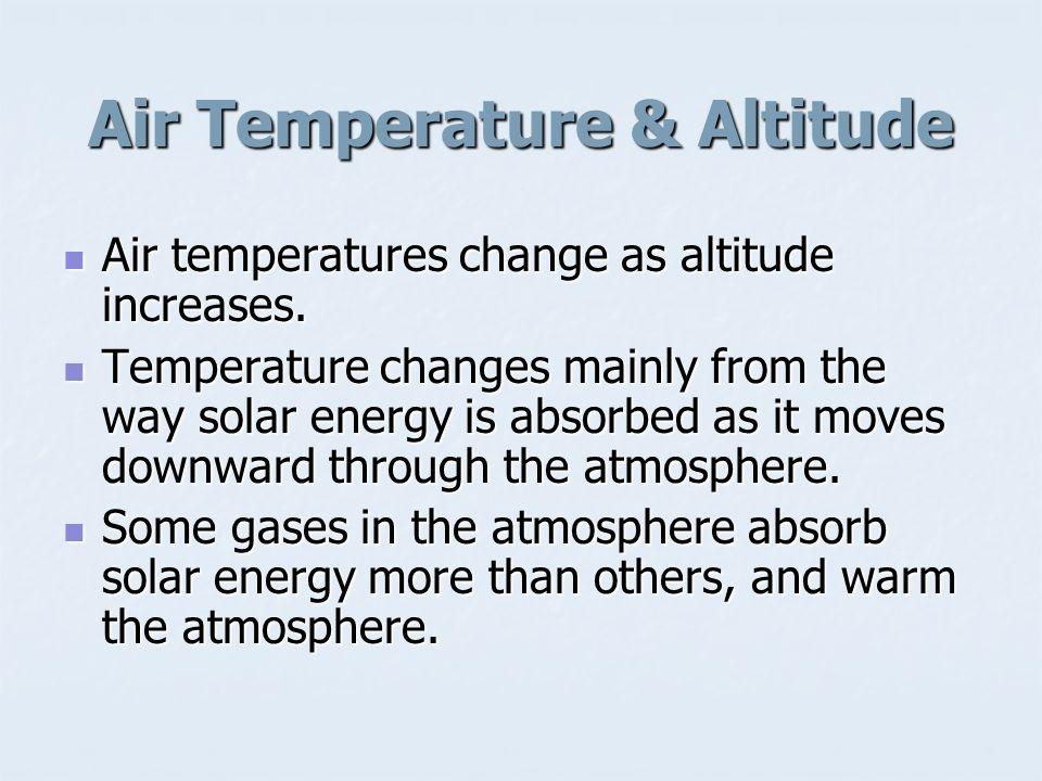 Air Temperature & Altitude
