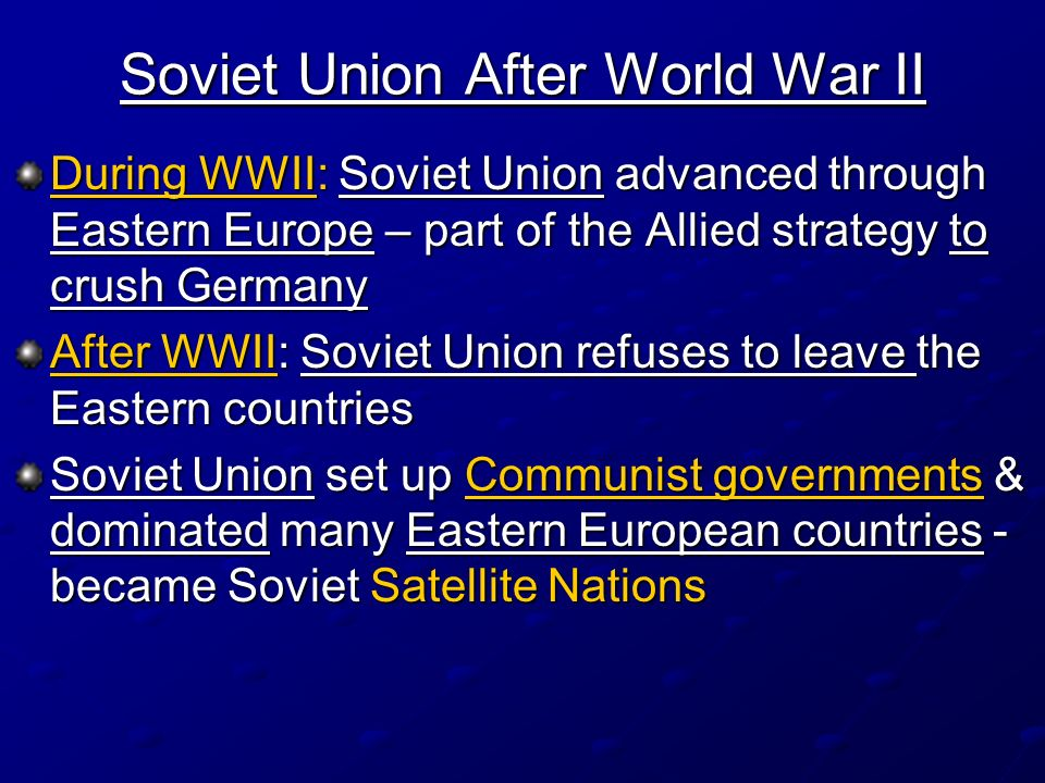 Soviet Union After World War II