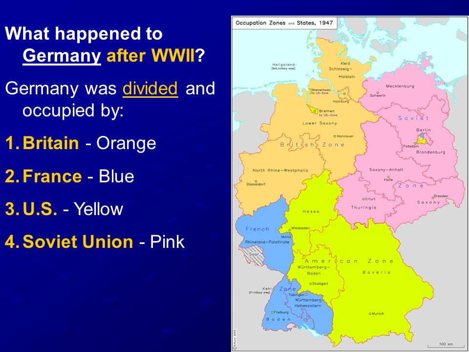 What happened to Germany after WWII