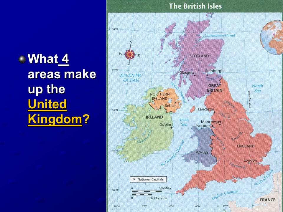 What 4 areas make up the United Kingdom