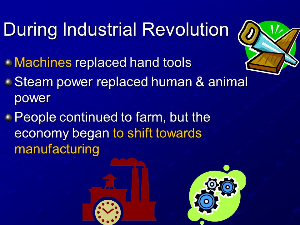 During Industrial Revolution