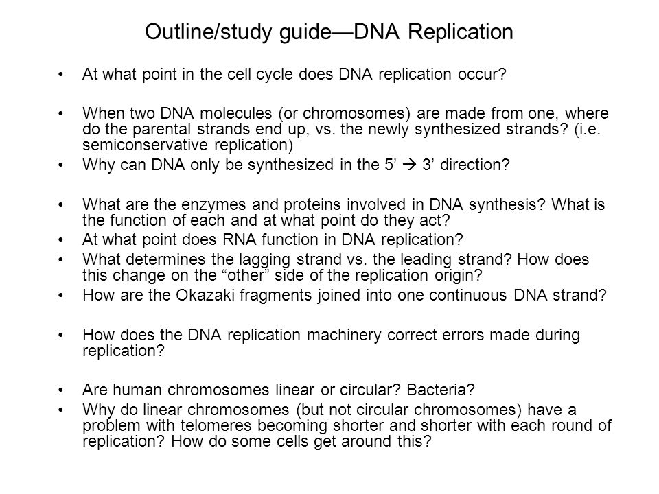 semiconservative replication involves a template what is the template - broad course objectives for dna replication ppt video