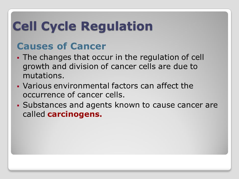 Cell Cycle Regulation Causes of Cancer