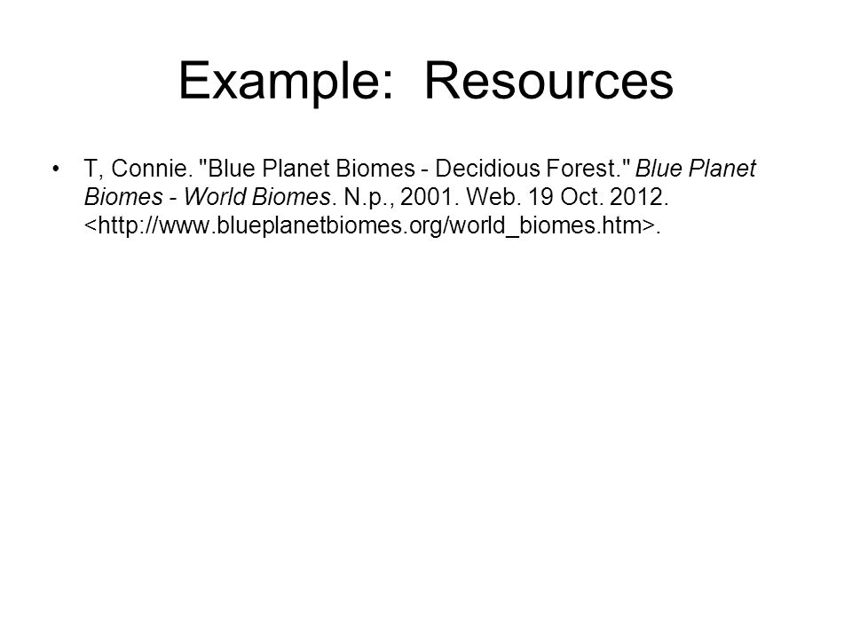 Example: Resources