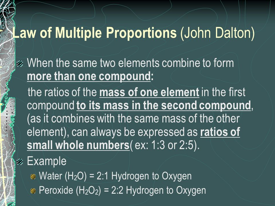 Law of Multiple Proportions (John Dalton)