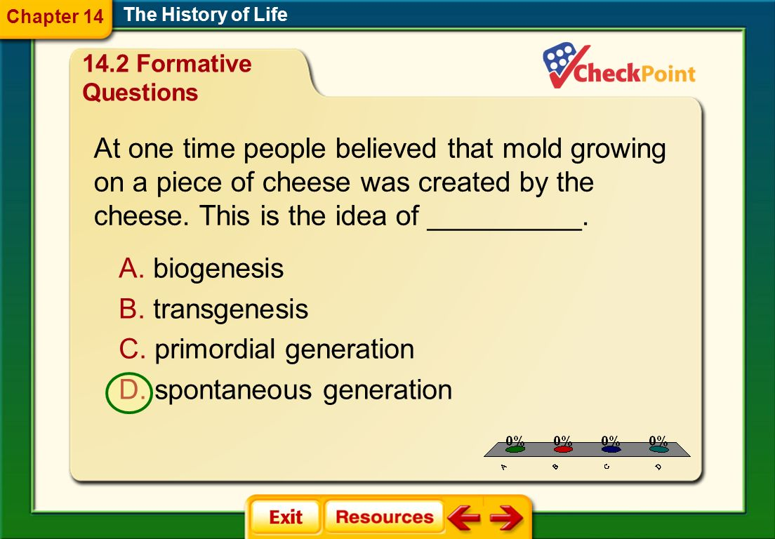 At one time people believed that mold growing