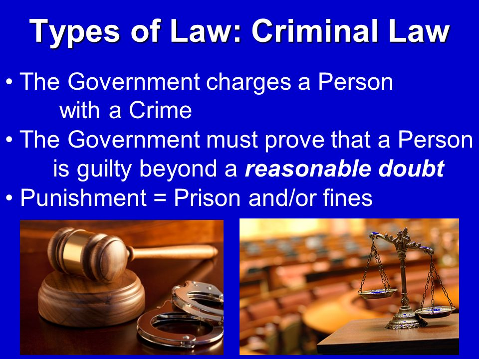 Types of Law: Criminal Law