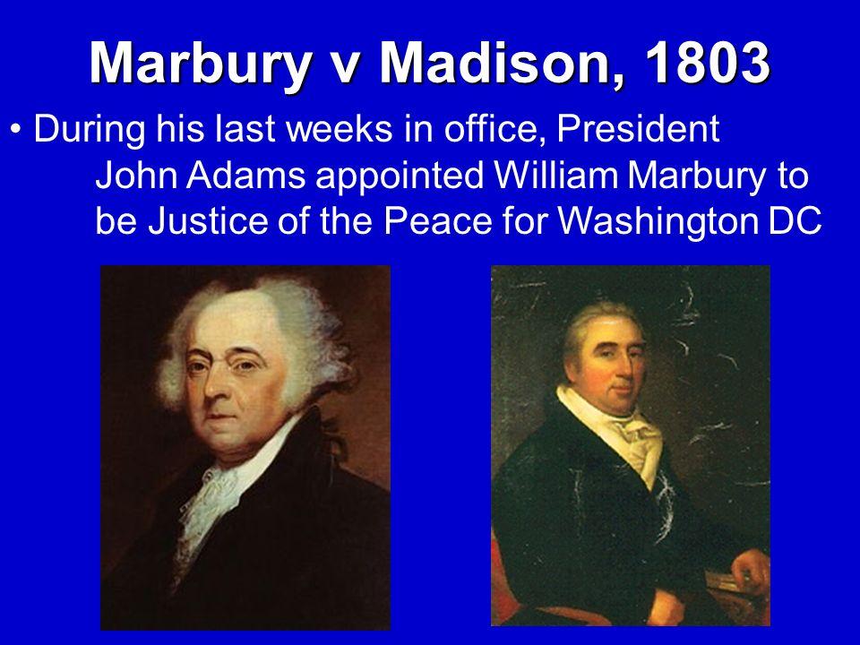Marbury v Madison, 1803