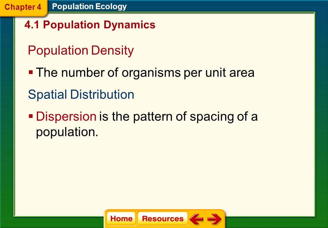The number of organisms per unit area