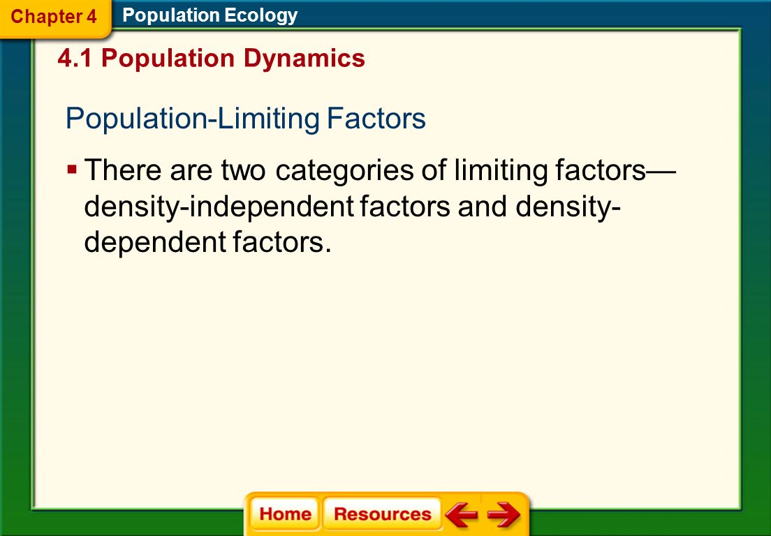 Population-Limiting Factors