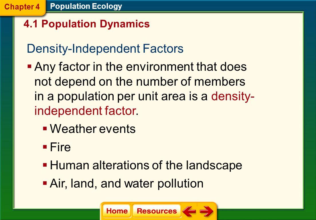 Density-Independent Factors