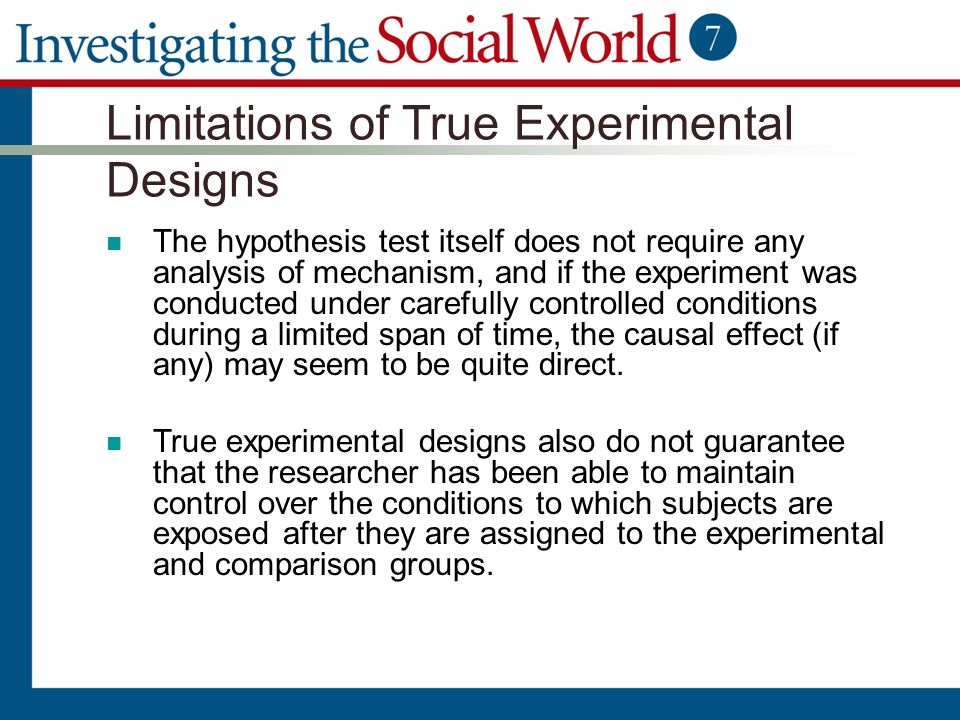 an analysis of a controlled comparison experiment Exists when well controlled experiment reveals that a specific change in explain the philosophical assumptions of behavior analysis such as the lawfulness of behavior • experimental analysis is a carefully conducted and controlled comparison of some measure of the phenomenon of.