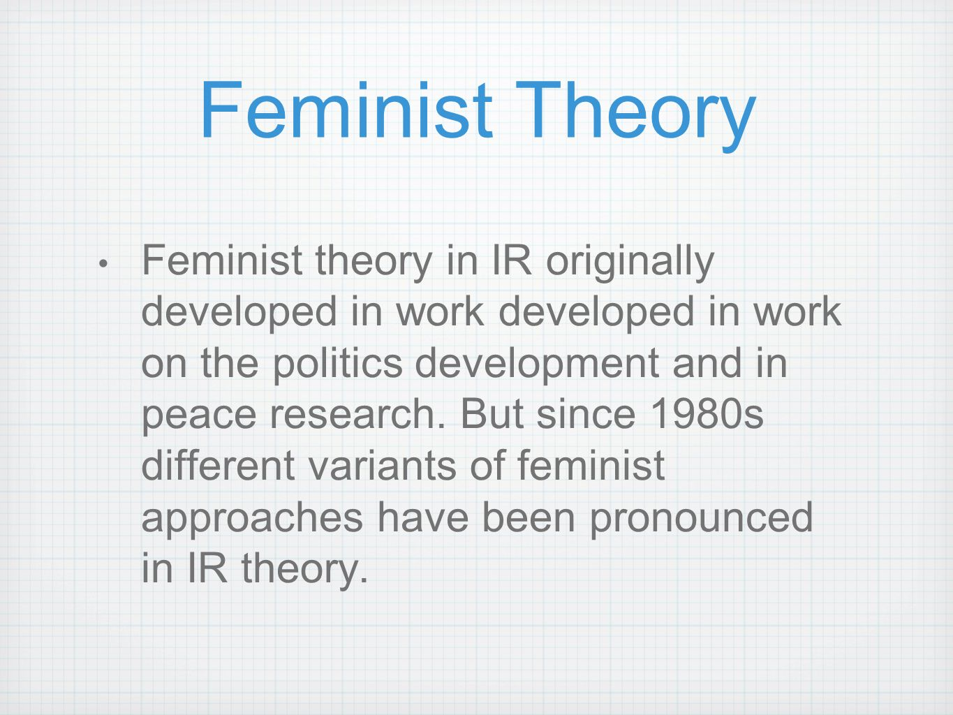 essay on what feminist theory is Book reviews brenda ~ o s s m a n  feminism after the critique of  feminism review of visible women: essays on feminist legal theory and.