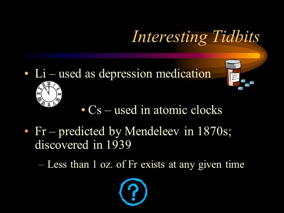 Interesting Tidbits Li – used as depression medication