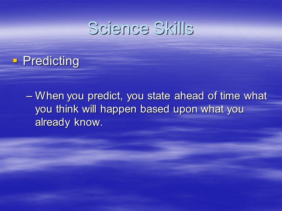 Science Skills Predicting